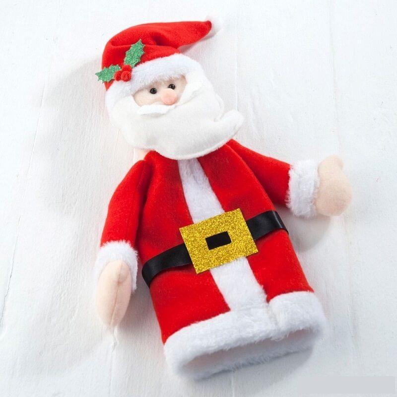Funda Botella Papá Noel Detalles para Navidad