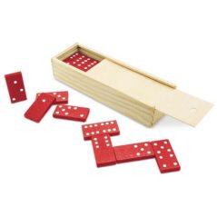 Dominó Rojo en Caja de Bambú Detalles Primera Comunión