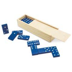 Dominó Azul en Caja de Bambú
