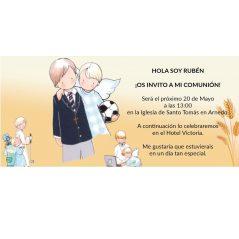 Invitacion Comunion Niño Angelito