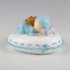 Figura Pastel Hucha Bebé Almohada Azul Figuras para Tartas de Bautizo14,13 €