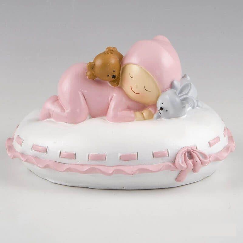 Muñeco Tarta Hucha Bebé Almohada Rosa Figuras para Tartas de Bautizo14,13 €
