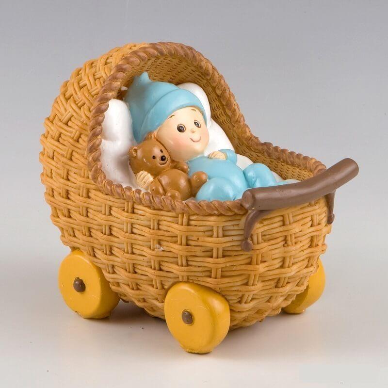 Figura Pastel Bebé en Cochecito Pijama Celeste Figuras para Tartas de Bautizo15,71 €