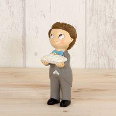 Figura Niño Alianzas Chaqueta Gris Figuras para Tartas de Boda 4,69 €