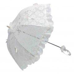 Sombrilla Novia Blanca con Volante