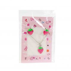 Conjunto Pendientes y collar Fresas Recuerdos de Comunion