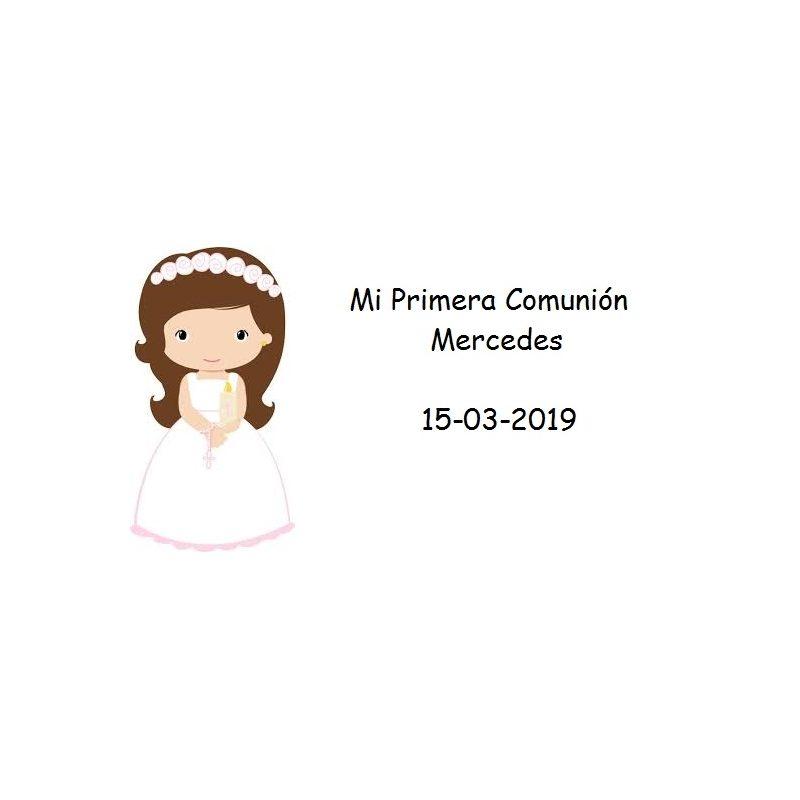 Tarjeta Niña Rosario Rosa Tarjetas para Comunión Gratis0,00 €