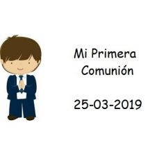 Tarjeta Niño Chaqueta Azul Tarjetas para Comunión
