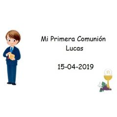 Tarjeta Niño Chaqueta Cáliz Tarjetas para Comunión Gratis0,00 €