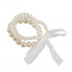 Pulsera Perlas Triple con Lazo Detalles de Boda Baratos 26187
