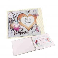 Libro de Firmas para Bodas Corazón Complementos de Boda y Novia