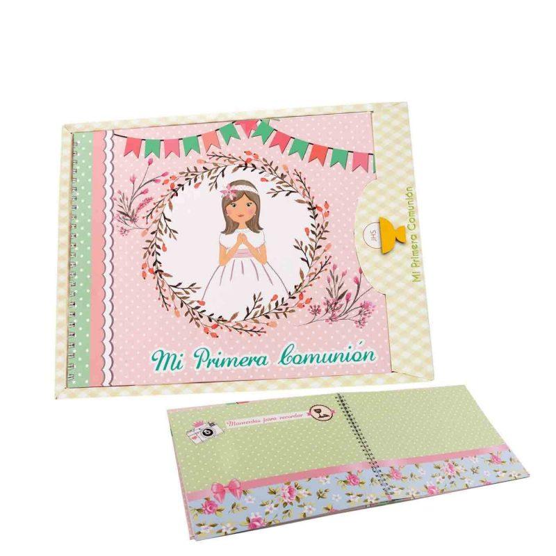 Libro Firmas Comunión Niña Banderitas Recuerdos de Comunion
