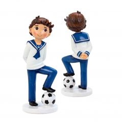 Figura Niño Marinero Balón Figuras Tartas para Comunión