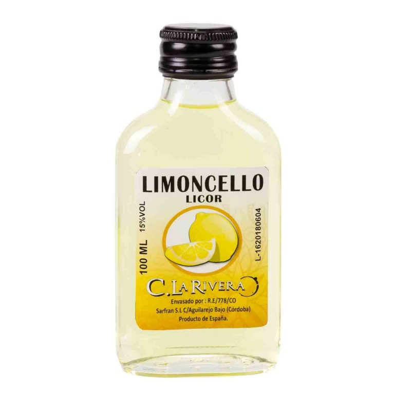 Petaca Cristal Limoncello 100 Ml Botellitas y Miniaturas para Bodas