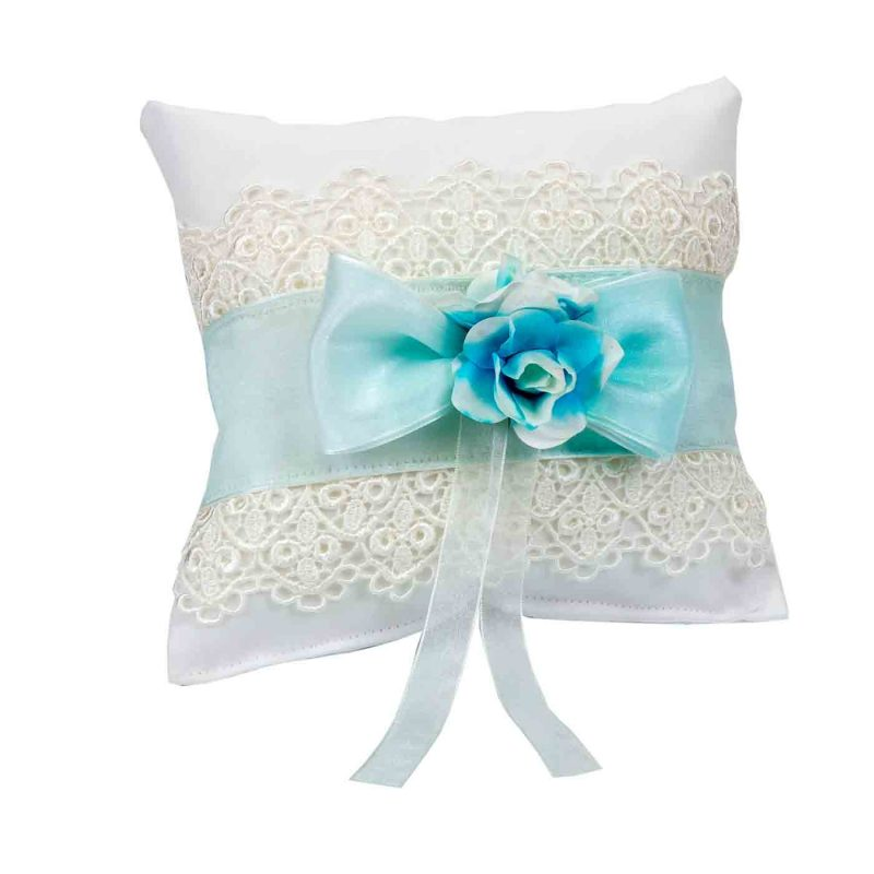 Cojín Flor Azul para Alfileres Inicio