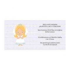 Invitación Comunión Niña Rubia