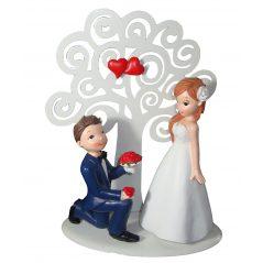 Figura Pastel Novios Arbol Figuras para Tartas de Boda