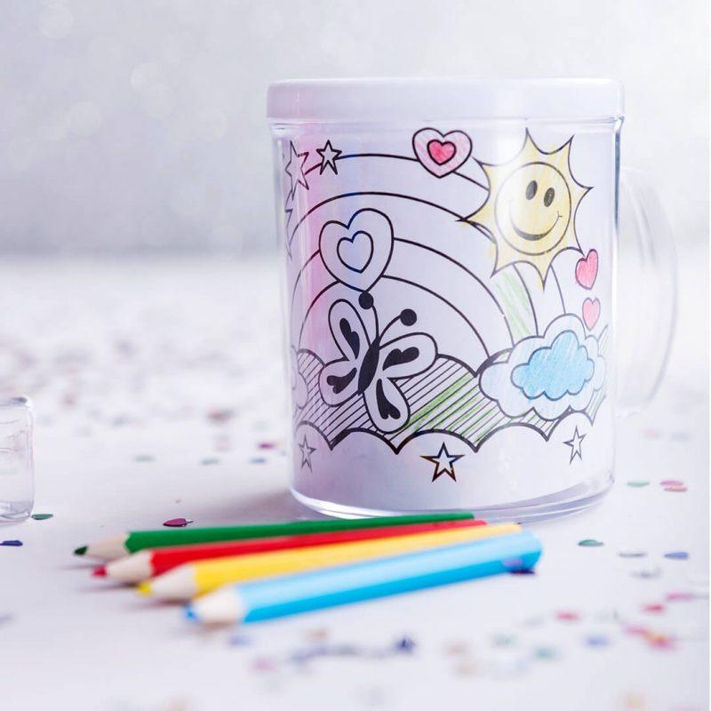 Taza para Pintar Detalles para Niños