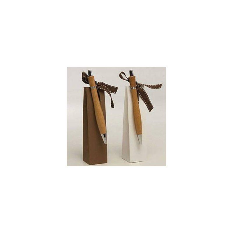 Boligrafos de Bambu con Bombones Detalles de Boda para Hombres KB5001
