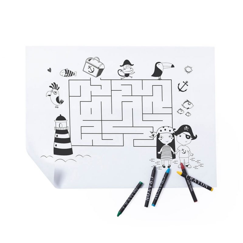 Salva Mantel Laberinto para Pintar Detalles para Niños