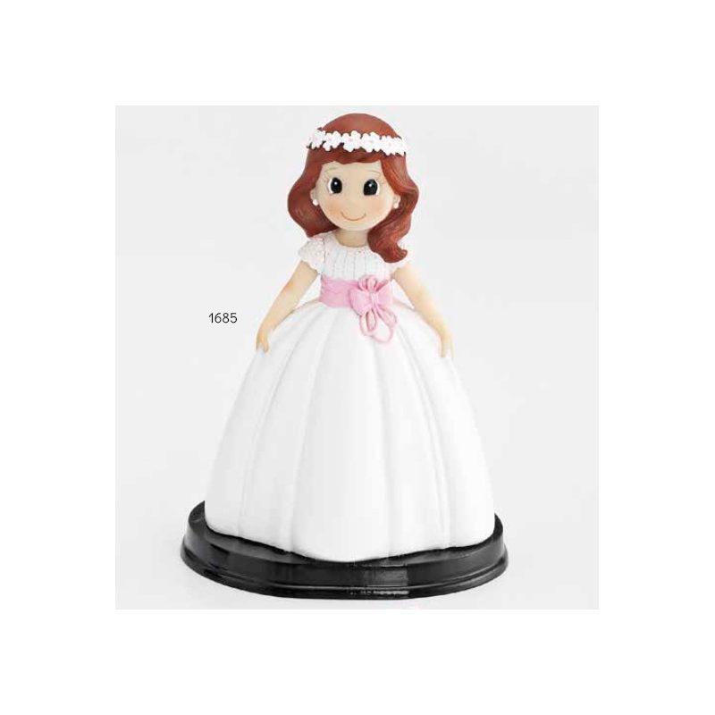 Muñeca Pastel Comunión Feliz Figuras Tartas para Comunión