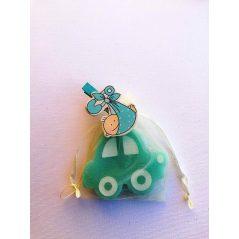 Jabón Cochecito Azul con Pin Bebé en Bolsa