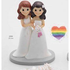 Pareja de Novios Chicas Figuras para Tartas de Boda 17,90 €