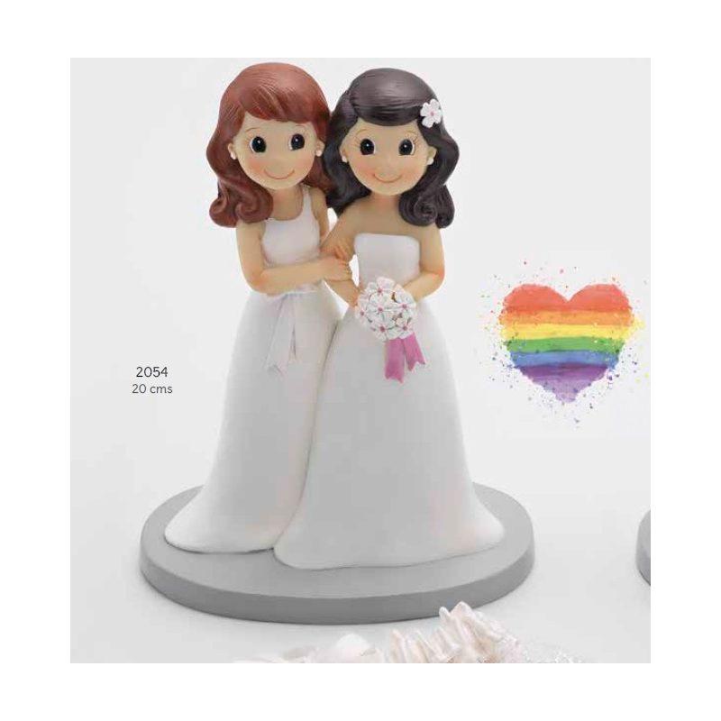 Pareja de Novios Chicas Figuras para Tartas de Boda