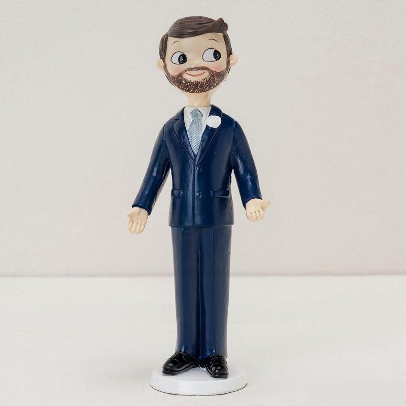 Figura Pastel Novio con Barba Figuras para Tartas de Boda