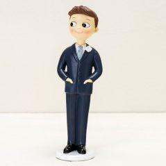 Figura Pastel Novio Manos en los Bolsillos Figuras para Tartas de Boda