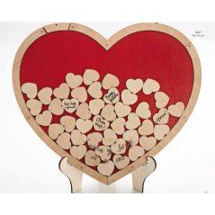 Corazón Deseos Madera Complementos de Boda y Novia