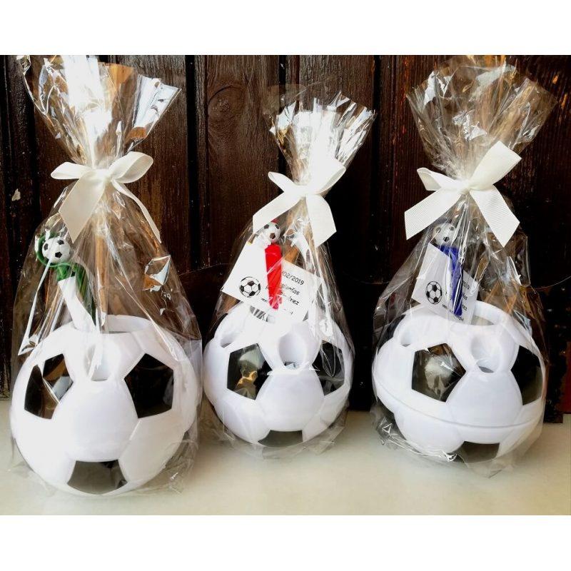 Portalápices Balón con Boli, Bolsa y Lazo Detalles Comunión para Niñ@s
