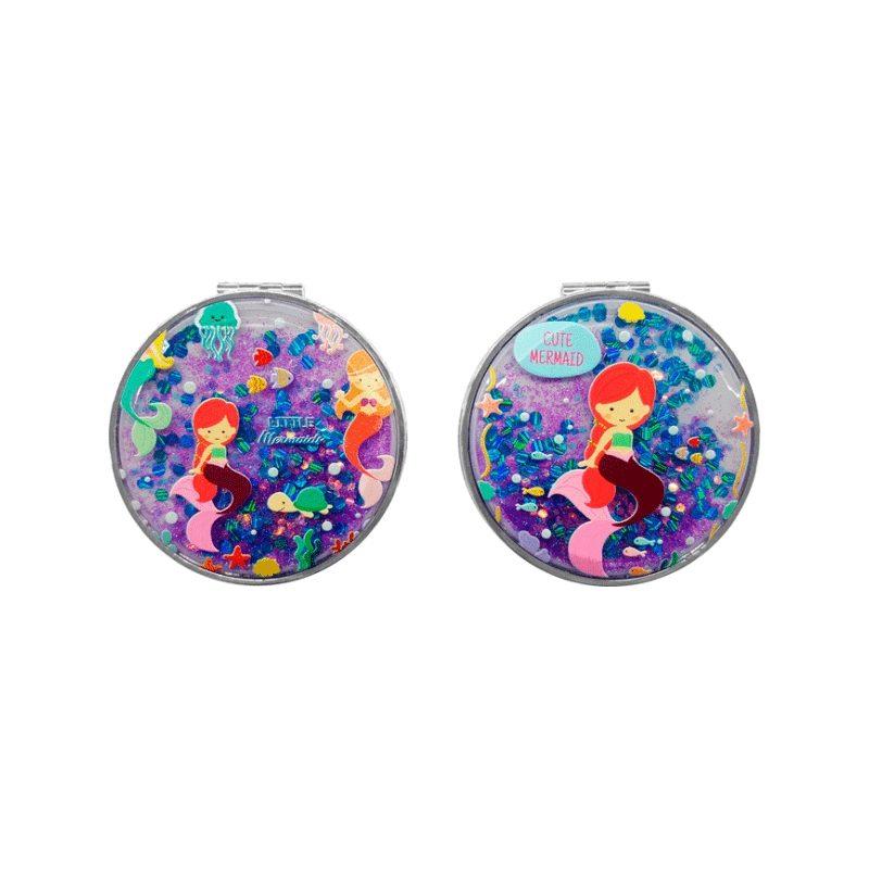Espejos Purpurina Sirenita Detalles para Niños