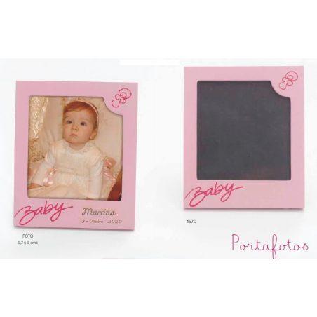 Portafoto Baby Polaroid Rosa Portafotos de Bautizo Baratos2,05 €