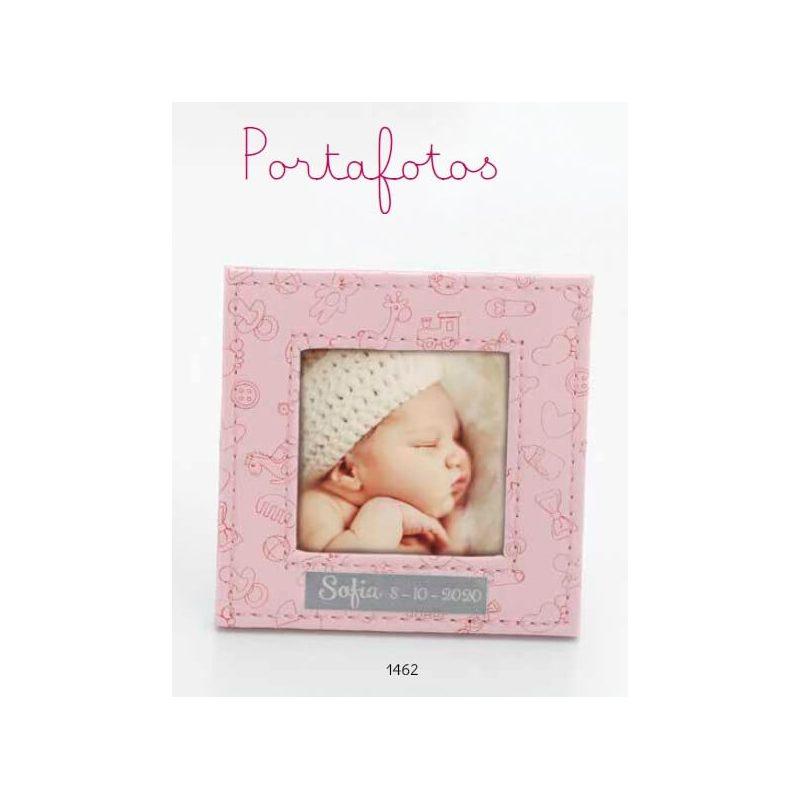 Portafoto Piel Rosa Bautizo Portafotos de Bautizo Baratos