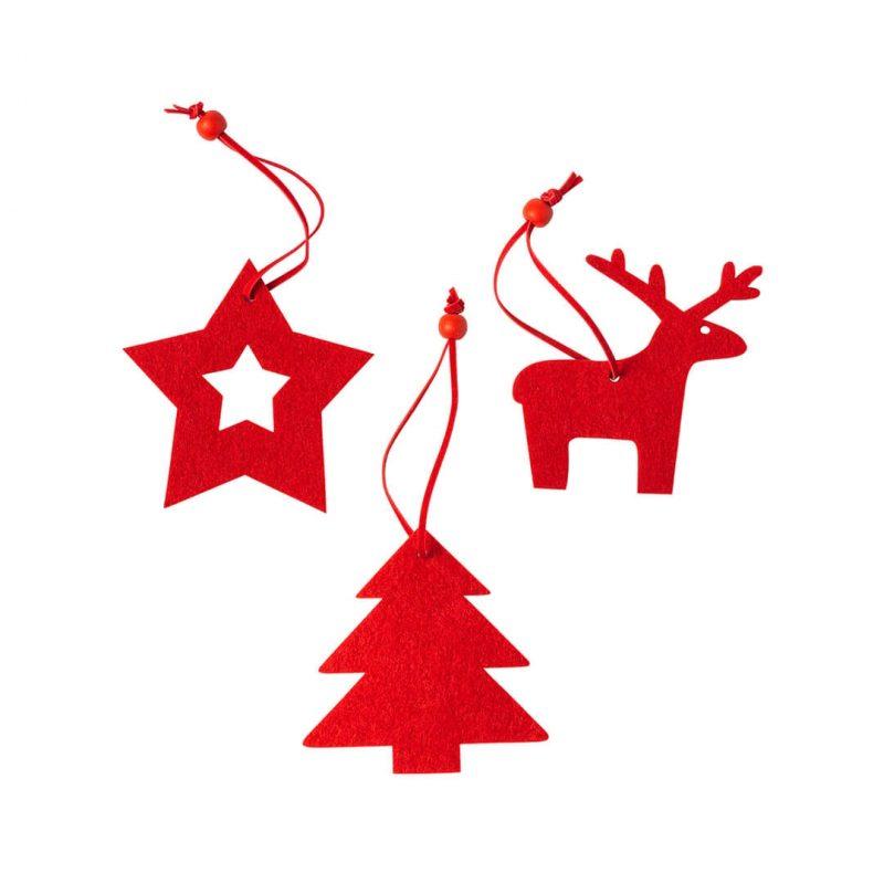 Set Figuras Navidad Rojas Detalles para Navidad