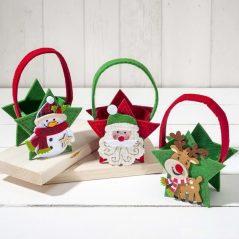 Lote Cestas Fieltro Navidad Detalles para Navidad