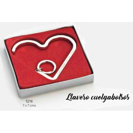 Llavero Cuelgabolsos Corazón Detalles de Boda para Mujeres 1,60 €