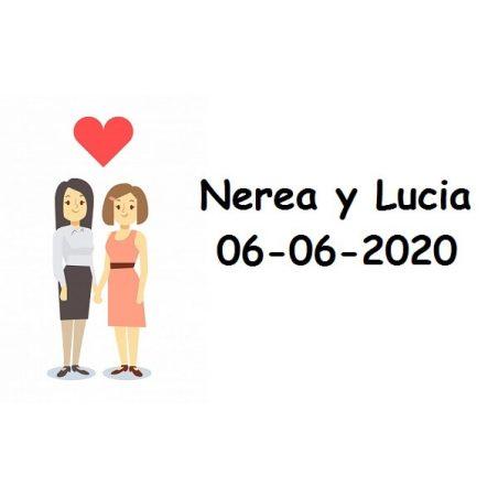 Tarjeta Chicas Corazón Tarjetas de Boda Gratis0,00 €