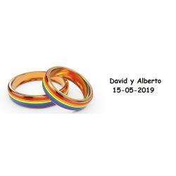 Tarjeta LGTBI Anillos Tarjetas de Boda Gratis