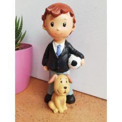 Figura Niño Comunión Fútbol Perro Figuras Tartas para Comunión