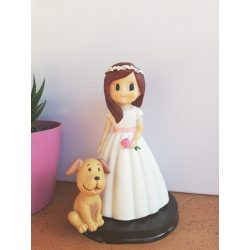 Muñeco Pastel Niña Perro Figuras Tartas para Comunión8,99 €