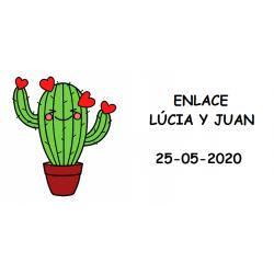Tarjeta Cactus Detalles Boda