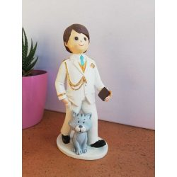 Figura Niño Comunión Almirante Gato Figuras Tartas para Comunión