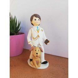 Figura Comunión Almirante Niño Perro Figuras Tartas para Comunión9,12 €