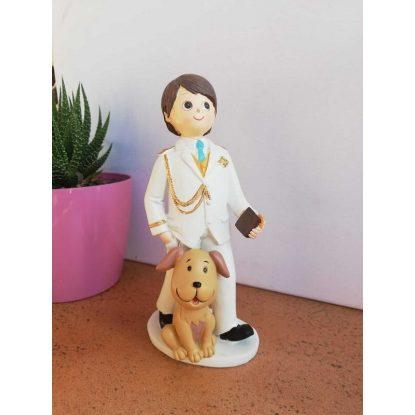 Figura Comunión Almirante Niño Perro Figuras Tartas para Comunión