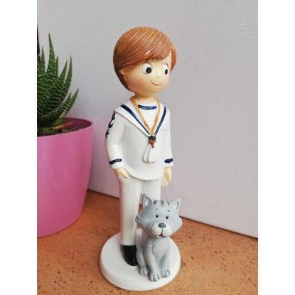 Figura Comunión Marinero Gatito Figuras Tartas para Comunión