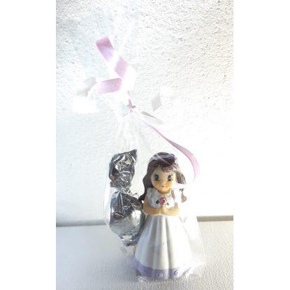 Figurita Comunón Flor Niña Decorado Detalles Primera Comunión