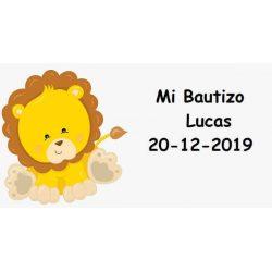 Tarjeta León Bautizo Tarjetas de Bautizo Gratis0,00 €