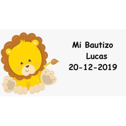 Tarjeta León Bautizo Tarjetas de Bautizo Gratis